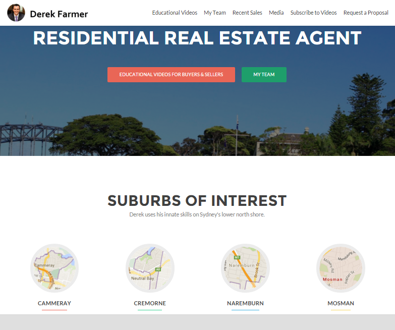 Derek Farmers North Sydney Real Estate Agent website large