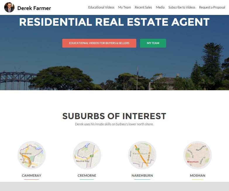 Derek Farmers North Sydney Real Estate Agent website large