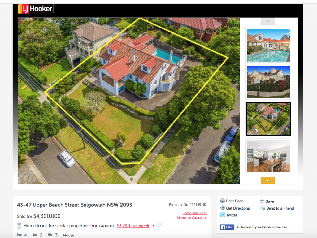 This Balgowlah mansion occupies three lots of land.