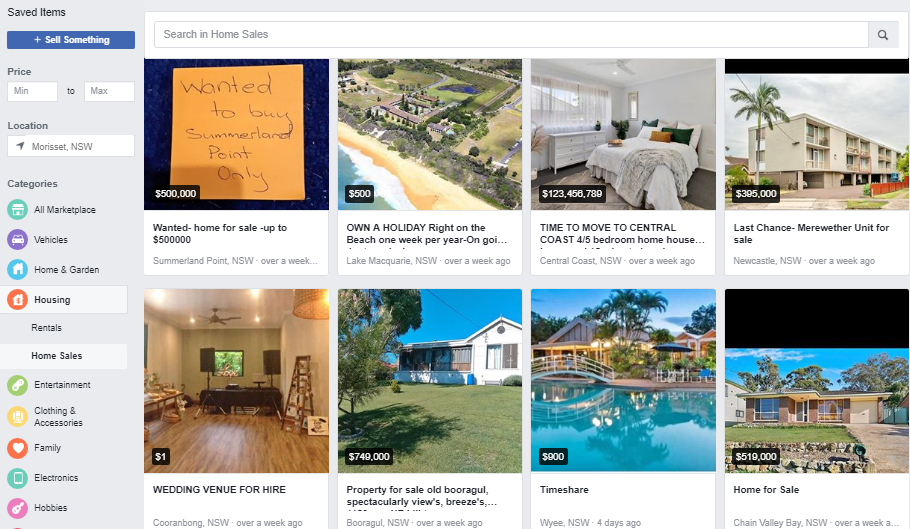 Facebook Social media and digital marketing to sell real estate and property in Newcastle, Central Coast and Lake Macquarie