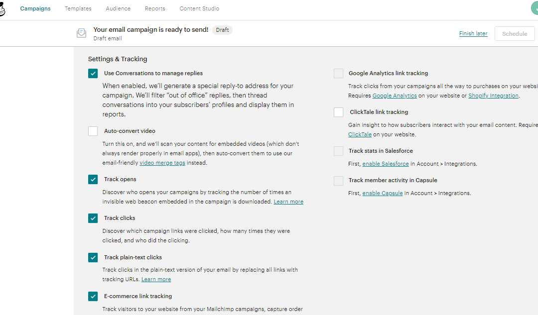 MailChimp offers free Google ReTargeting Service